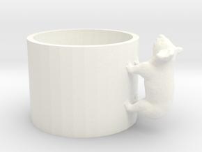 Small Koala Cup-porcelain Shapeways Test in White Processed Versatile Plastic