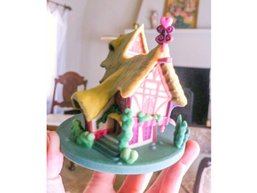 My Little Pony - Ponyville House (≈90mm tall) in Full Color Sandstone