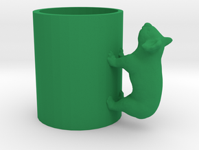 Koala Cup-porcelain Shapeways Test in Green Strong & Flexible Polished