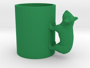 Koala Cup-porcelain Shapeways Test in Green Processed Versatile Plastic