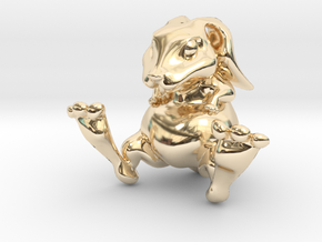 Lucky Bunny Charm in 14K Yellow Gold