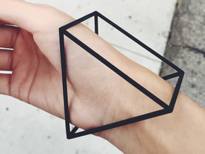 Triangle Bracelet -  Small in Black Natural Versatile Plastic