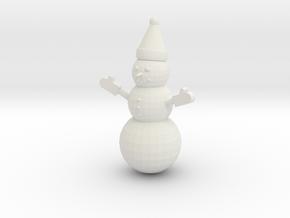 Snowman in White Natural Versatile Plastic