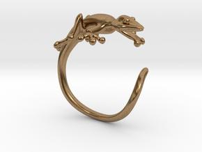 Gekko Wraparound Ring in Natural Brass