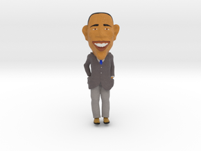 Funny Barack Obama Caricature ! in Full Color Sandstone