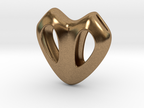 Cuore Hollow in Natural Brass