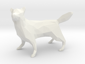 Low Poly Husky [8.5cm Tall] in White Natural Versatile Plastic
