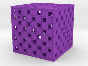 Dice16 in Purple Processed Versatile Plastic