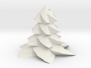 Christmas tree - Sapin De Noel in White Natural Versatile Plastic