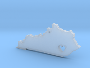 Kentucky Love Necklace in Smooth Fine Detail Plastic
