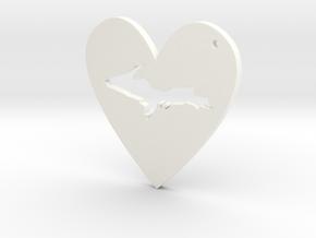 I love UP Pendant in White Processed Versatile Plastic