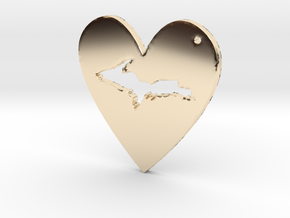 I love UP Pendant in 14K Yellow Gold