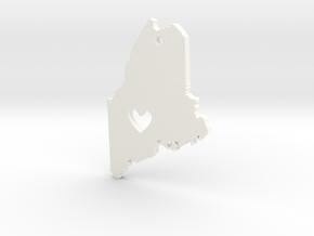 I love Maine Pendant in White Processed Versatile Plastic