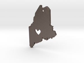 I love Maine Pendant in Polished Bronzed Silver Steel