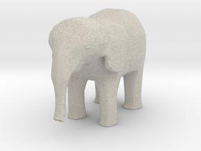 Elephant-shapeways-test-14 in Sandstone