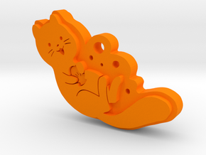 Otter in Orange Processed Versatile Plastic
