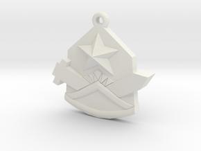 Samezuka Pendant in White Natural Versatile Plastic