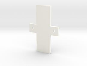 Screen Holder in White Processed Versatile Plastic