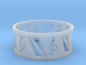 Ring4 in Smooth Fine Detail Plastic