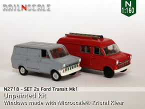 SET 2x Ford Transit Mk1 (N 1:160) in Smooth Fine Detail Plastic