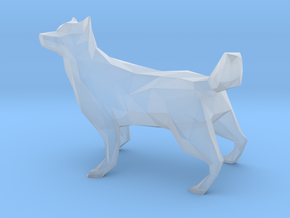 Low Poly Husky [4cm Tall] [Fully Solid] in Smooth Fine Detail Plastic