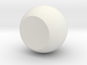 Single Orb in White Natural Versatile Plastic