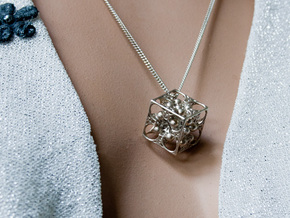 GOD's DICE & Pendant - 18mm - Precious Metal in Raw Silver