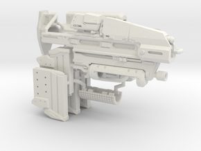 1:6 scale Sci-Fi Assault Rifle in White Natural Versatile Plastic