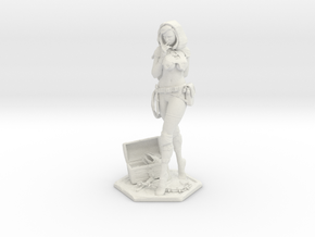 Female Thief 7in Statuette  in White Strong & Flexible