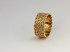 Plonter ring size 7 in Polished Brass