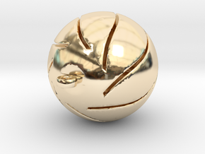 Chrismas Ball in 14K Yellow Gold