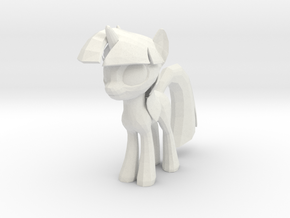 Twilight Sparkle in White Natural Versatile Plastic