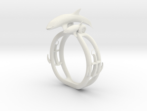 Parent and child of a killer whale(USA 6.5,Japan 1 in White Natural Versatile Plastic