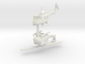 1/285 UH-1 Huey (x2) in White Natural Versatile Plastic