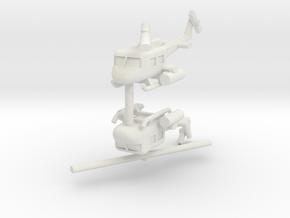 1/285 UH-1 Gunship (x2) in White Natural Versatile Plastic