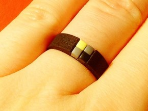 4-bit ring (US7/⌀17.3mm) in Black Natural Versatile Plastic