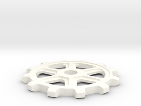 Sprocket in White Processed Versatile Plastic