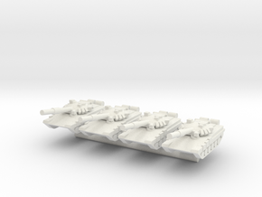1/285 T-90 Main Battle Tank (x4) in White Natural Versatile Plastic
