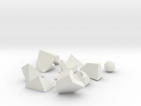 Curved 3d Puzzle in White Natural Versatile Plastic
