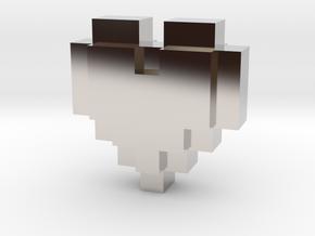 bitc Pixel Heart in Platinum
