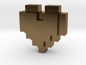 bitc Pixel Heart in Natural Bronze