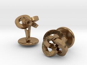 Trefoil Studs in Natural Brass