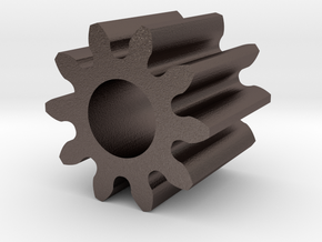 Spur Gear M1 Z10 in Polished Bronzed Silver Steel