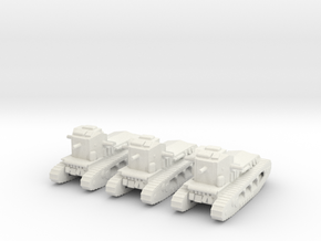 1/160 Whippet tanks (3) in White Natural Versatile Plastic