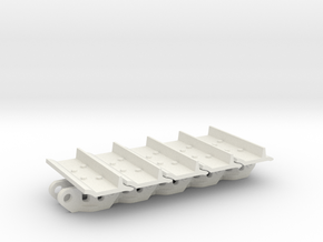 1:25 CAT D9T Track - 5 Links in White Natural Versatile Plastic