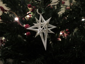 Christmas 3D Star in White Natural Versatile Plastic