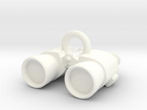 Binoculars in White Processed Versatile Plastic