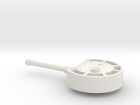 Turret European #1, heavy armour (n-scale) in White Natural Versatile Plastic