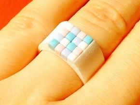 16-bit ring (US8/⌀18.2mm) in White Strong & Flexible Polished