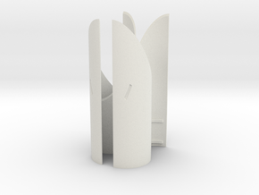Engines - Front Heatshields V0.1 in White Natural Versatile Plastic